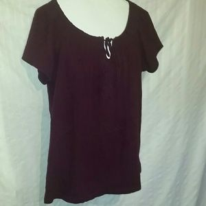 3 for $15 Peasant Detail Bodice Tee